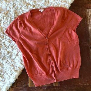 Eileen Fisher | Cashmere Blend Orange Cardigan